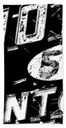 Motel Sign Black And White Beach Towel