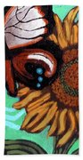 Moth And Sunflower Beach Towel