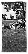 Mother And Child-black And White Beach Towel