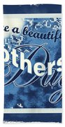 Mothers Day In Blue Beach Towel