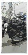 Motorcycle Ride - Three Beach Towel