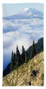Mount Adams Above Cloud-filled Valley Beach Towel