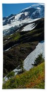 Mount Baker Floral Bouquet Beach Towel