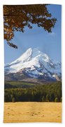 Mount Hood And Autumn Colours In Hood Beach Towel