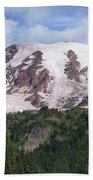Mount Rainier With Coniferous Forest Beach Towel