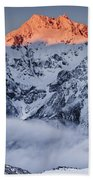 Mount Rolleston In The Dawn Light Beach Towel by Colin Monteath