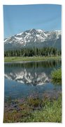 Mount Tallac Sky Projections Beach Towel