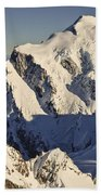 Mount Tutoko At Dawn Hollyford Valley Beach Towel by Colin Monteath