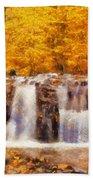 Mountain Creek Falls Beach Towel