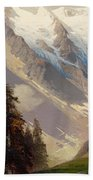 Mountain Landscape With The Grossglockner Beach Towel