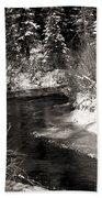 Mountain Stream Beach Towel