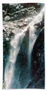 Mountain Waterfall Beach Towel