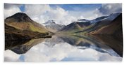 Mountains And Lake, Lake District Beach Towel