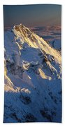 Mt Cook Or Aoraki And Mt Tasman, Aerial Beach Towel