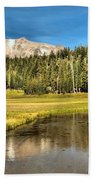 Mt Lassen Reflections Beach Towel