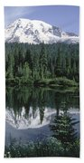 Mt. Ranier Reflection Beach Towel
