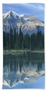 Mt Robson Highest Peak In The Canadian Beach Towel by Tim Fitzharris