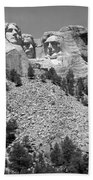 Mt. Rushmore Full View In Black And White Beach Towel