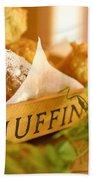 Muffins Fresh And Warm Beach Towel
