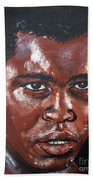 Muhammad Ali Formerly Cassius Clay Beach Towel