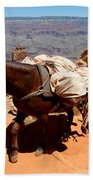 Mule Train Beach Towel