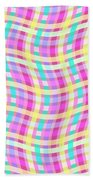 Multi Check Beach Towel
