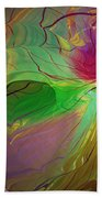 Multi Colored Rainbow Beach Towel by Deborah Benoit
