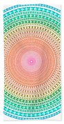 Multicolor Circle Beach Towel