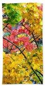 Multicolored Maple Beach Towel