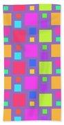 Multicoloured Squares Beach Towel