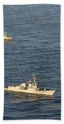 Multinational Navy Ships Move Beach Towel