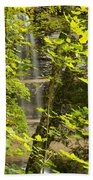 Munising Falls 4 Beach Towel