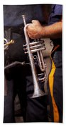 Music - Trumpet - Police Marching Band  Beach Towel by Mike Savad