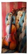 Music - Violin - Musical Elegance  Beach Towel