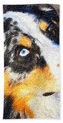 My Brown Eyes Blue 3 Beach Towel