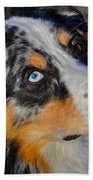 My Brown Eyes Blue Beach Towel