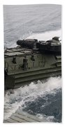 N Amphibious Assault Vehicle Departs Beach Towel