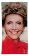 Nancy Reagan, 40th First Lady Beach Towel by Photo Researchers