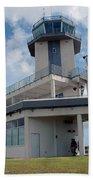 Nasa Air Traffic Control Tower Beach Towel