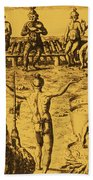 Native Amercian Medicine Beach Towel by Science Source