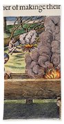 Native Americans: Canoe, 1590 Beach Towel