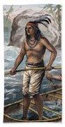 Native Americans/fishing Beach Towel