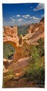 Natural Bridge In Bryce Canyon National Park Beach Towel