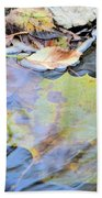 Nature's Leaf Collage Beach Towel