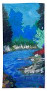 Natures Red White And Blue Beach Towel