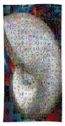 Nautilus Shell Mosaic Beach Towel