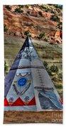 Navajo Trading Post Teepee Beach Towel