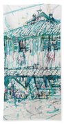 Navigli City Of Milan In Italy Portrait Beach Towel