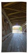 Neet Covered Bridge Interior Beach Towel