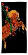 Neon Cowboy Las Vegas Beach Towel by Garry Gay